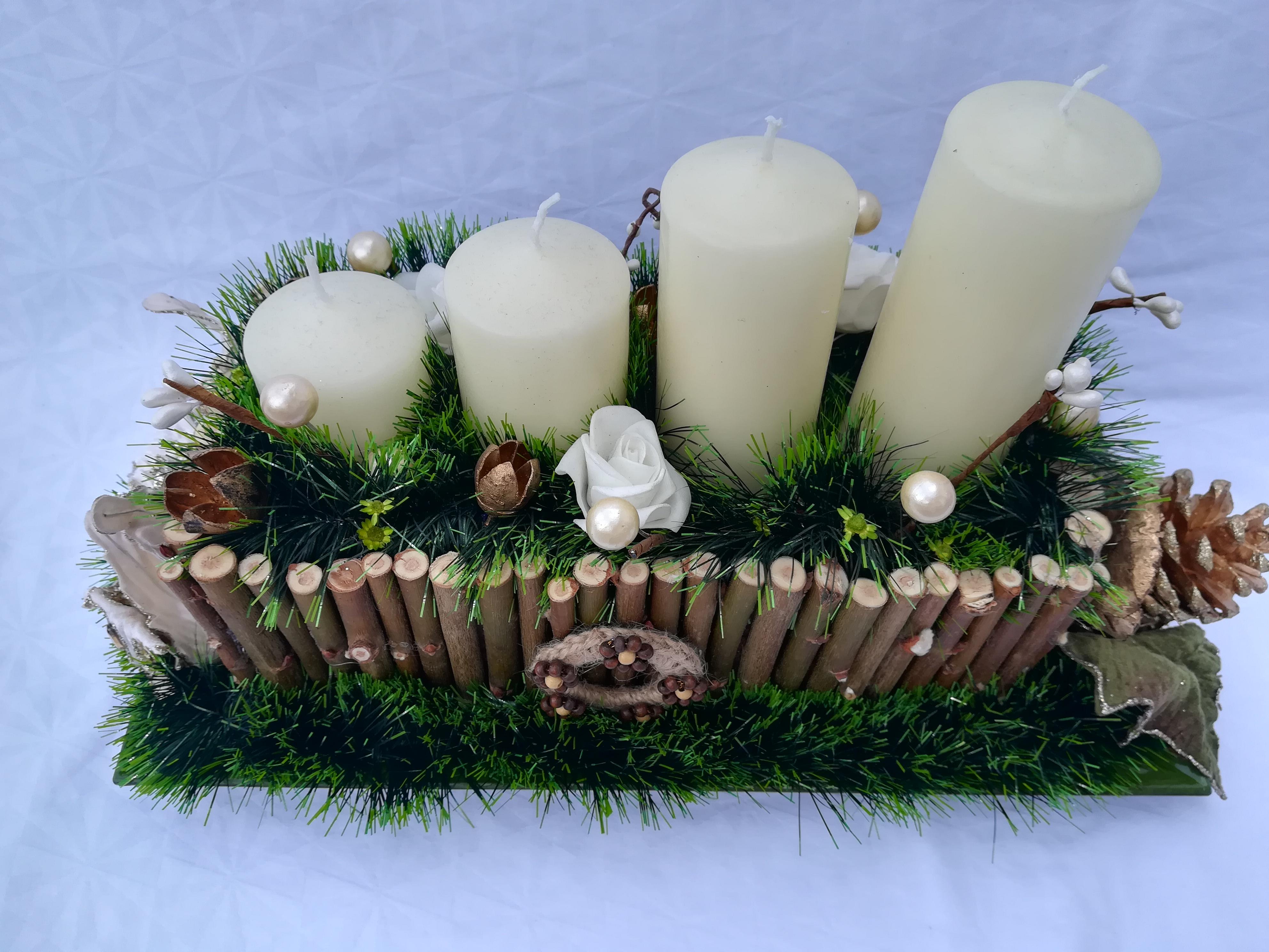 8e9fa0464 Adventný svietnik 1 Vianoce Dekorácie - originalnevecicky.sk