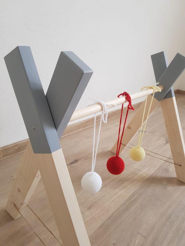 drevená hrazdička pre deti