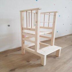 Učiaca veža nelakovana (len prírodné drevo)