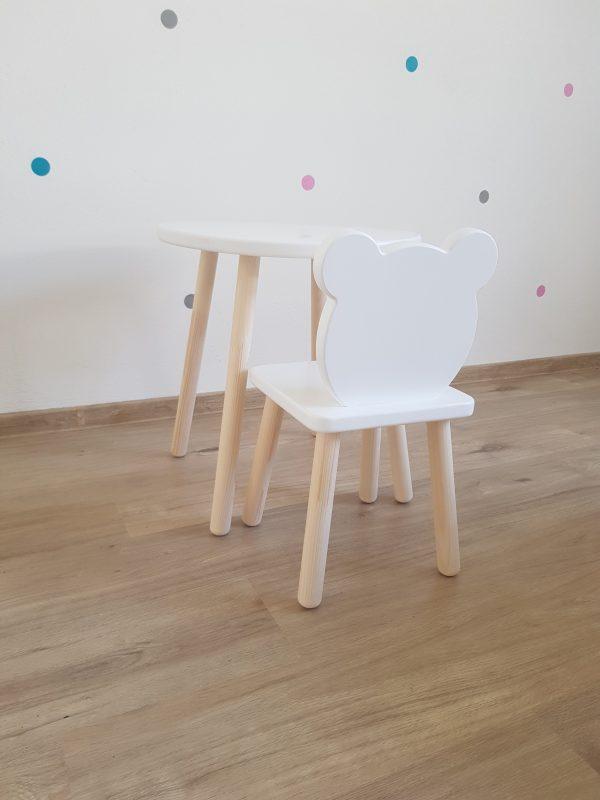 detska drevena stolicka a stolik