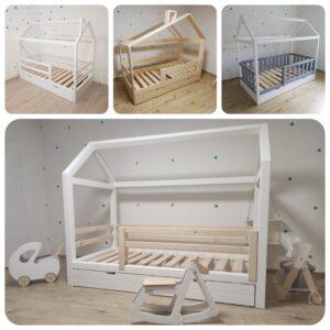 Detské postele - drevené domčeky a iné